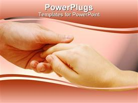 PowerPoint template displaying couples holding hands on a peach background
