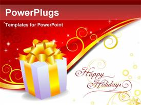 PowerPoint template displaying holiday Gift