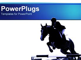 Horse Jumping powerpoint template