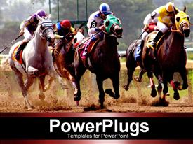 Horses racing powerpoint theme