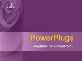PowerPoint template displaying plain purple background text spell out word