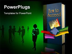 Back lit book entitled How to Succeed powerpoint theme