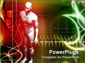 PowerPoint template displaying human body in color background