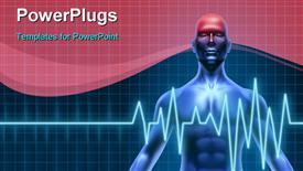 Human body with a head ache of the brain with a migraine and stroke accident caused by poor circulation powerpoint template