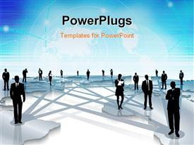 Globalization and world wide networking people powerpoint template