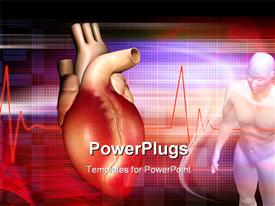 PowerPoint template displaying heart and human body