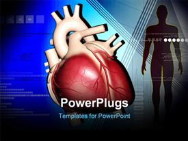 PowerPoint template displaying heart and human body in color background