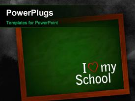 PowerPoint template displaying chalkboard On A Wall