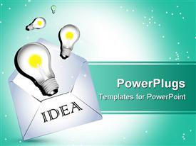 PowerPoint template displaying bulb with idea depiction with background AI8 supported