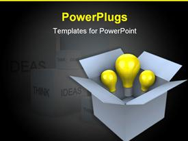 PowerPoint template displaying idea box