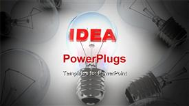 PowerPoint template displaying many lamps and lamp idea (done in 3D