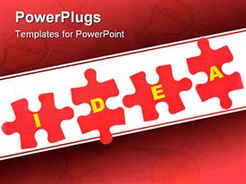 PowerPoint template displaying puzzle Idea