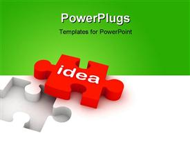 PowerPoint template displaying multi use idea puzzle in white background