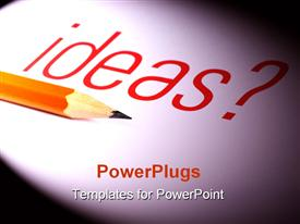 PowerPoint template displaying pencil with ideas. It is suitable for creative setting in the background.