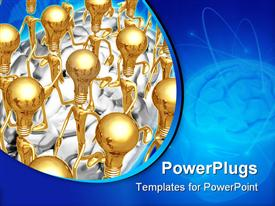 Concept & presentation figure in 3D powerpoint theme