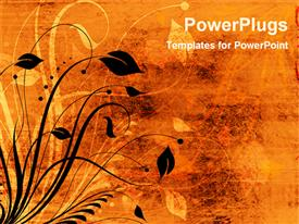 Abstract grunge floral background powerpoint template