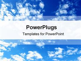 PowerPoint template displaying clouds in the background.