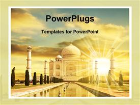 Beauty of Taj Mahal template for powerpoint