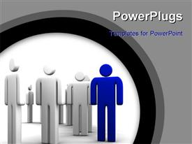 PowerPoint template displaying a lot of people with a special one