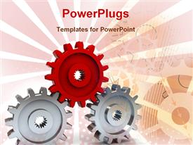 Gear wheels showing industry powerpoint design layout