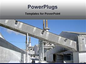 PowerPoint template displaying industrial architecture works