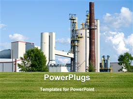 Large industrial manufacturing plant in western Wisconsin template for powerpoint