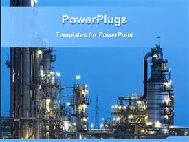 Night view of an industry powerpoint template