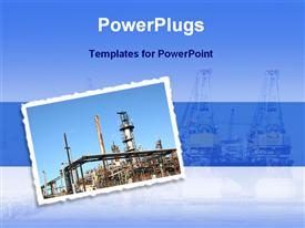 Oil refinery industry template for powerpoint