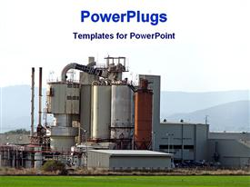 PowerPoint template displaying factory