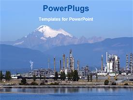 Petrochemical industry powerpoint theme