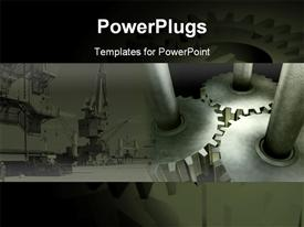 Three connected Gears template for powerpoint