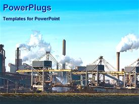 View of a big industrial plant powerpoint design layout