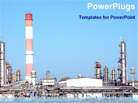 View of a big industrial plant powerpoint theme