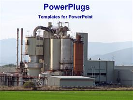 View of a industrial plant powerpoint design layout