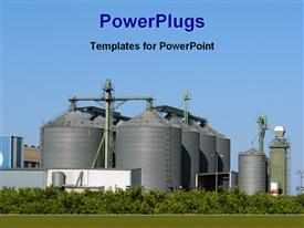 View of a industrial plant presentation background