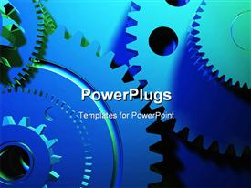 PowerPoint template displaying mechanism concept in the background.