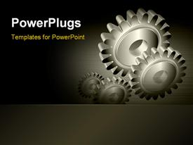 Industrial gear powerpoint template