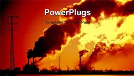 Power plant with smoke powerpoint template