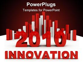 PowerPoint template displaying innovation concept computer generated depiction foe special design in the background.