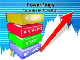 PowerPoint template displaying a collection of various parts of a plan leading towards success in the end