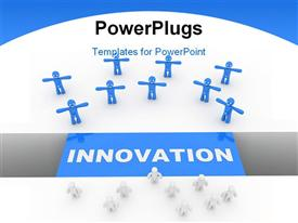 PowerPoint template displaying innovation concept computer generated depiction for special design