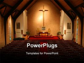 PowerPoint template displaying a view of the church in darkness