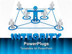 Integrity concept computer generated illustration for special design powerpoint design layout