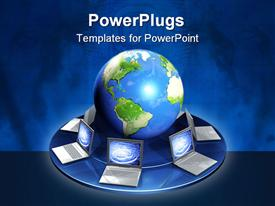 Conceptual image - global communication template for powerpoint