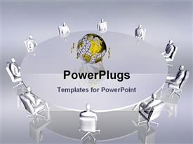PowerPoint template displaying team work conference