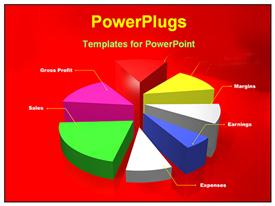 PowerPoint template displaying colorful pie chart in the background.