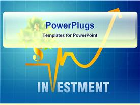 Investment graph powerpoint theme