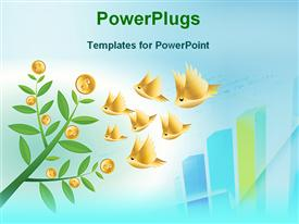 Money investment powerpoint design layout