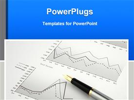 Pen on finance chart powerpoint design layout
