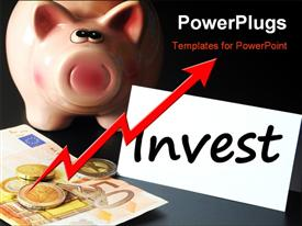 PowerPoint template displaying invest money or savings in your business future